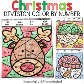 Christmas Division Color by Number Code
