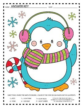 Christmas Division Coloring Pages by Extra Sprinkle TpT