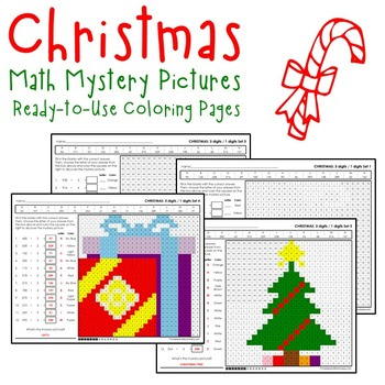 Christmas Division Worksheets, October Math Coloring Activity