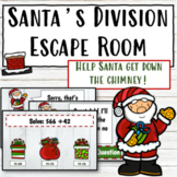 Christmas Division Digital Escape Room   Division with Remainders