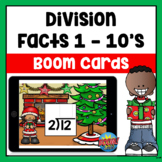 Christmas Division Facts Boom Cards | Distance Learning