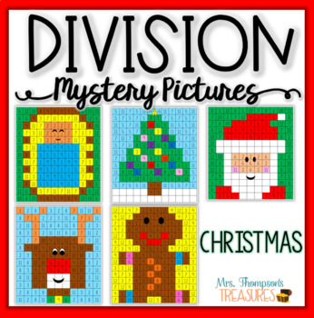 Christmas Division Math Mystery Picture Activities