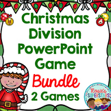 Christmas Division PowerPoint Game Bundle: Word Problems and Basic Facts