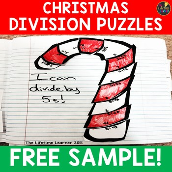 Christmas Division Puzzles FREE SAMPLER
