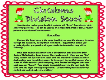 Christmas Division Scoot!