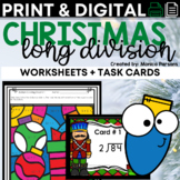 Long Division Task Cards {Christmas Theme}