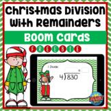 Division w/ Remainders Christmas Boom Card FREEBIE | Dista