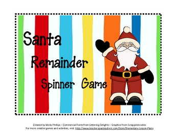 Christmas Division with Remainders Game