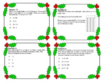 Christmas - Division with Word Problems Task Cards