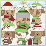 Christmas Dogs Clip Art - Christmas Clip Art - CU Clip Art & B&W
