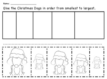Christmas Dogs - From Smallest to Largest