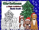 Christmas Dogs Three Digit Addition Math Craft