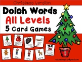 Christmas Dolch Lists Word Card Games:  Pre-Primer through Third Grade