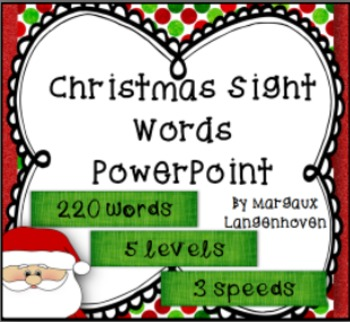 Christmas Dolch Sight Word PowerPoint