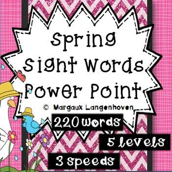Spring Dolch Sight Word PowerPoint