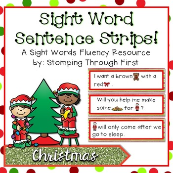 Sight Word Sentence Strips: Christmas Set