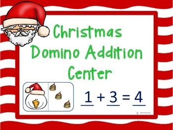 Christmas Domino Addition