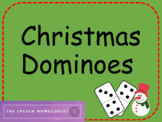 Christmas Dominoes: For Multi-Syllabic Words in Speech Therapy