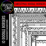 Christmas Clipart Doodle Borders {Creative Clips Clipart}