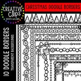 Christmas Clipart Doodle Borders {Creative Clips Clipart}