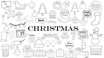 Christmas Doodle Clipart