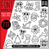 Christmas Doodle Font {Zip-A-Dee-Doo-Dah Designs}