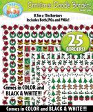 Christmas Doodle Frame Borders {Zip-A-Dee-Doo-Dah Designs}