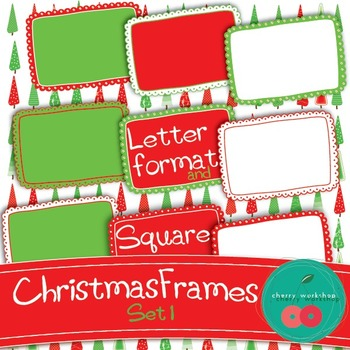 Christmas Doodle Frames {Commercial Use}