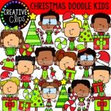 Christmas Doodle Kids Clipart (Christmas Clipart)
