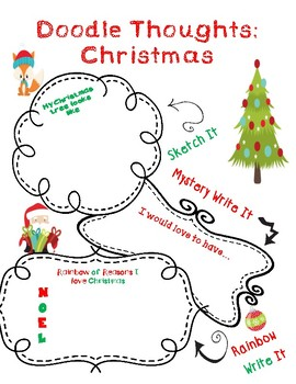 Christmas Doodles Graphic Organizer