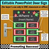 Christmas Door Decor, Red and Green Office Door Sign EDITABLE
