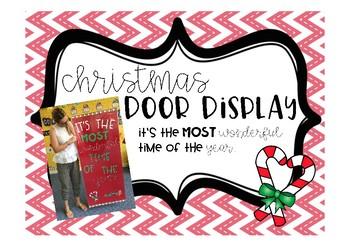 Christmas Door Display FREEBIE!