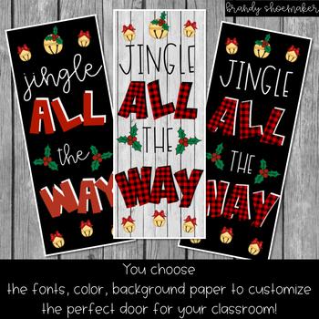 Christmas Door Decor Kit: Jingle All the Way