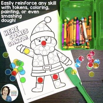 Christmas Dot Art {for articulation- ALL sounds and no PREP!}