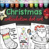 Articulation Dot Art for Christmas {ALL sounds and no PREP!}