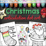 Articulation Dot Art for Christmas {ALL sounds and no PREP!}