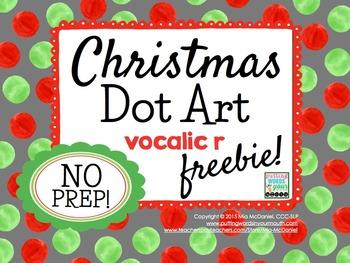 Christmas Dot Art {vocalic r} FREEBIE!