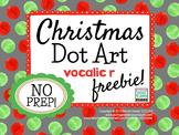 Articulation Dot Art {vocalic r} Christmas FREEBIE!