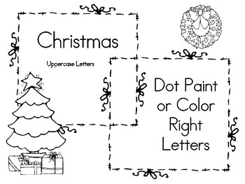 Christmas Dot Paint or Color Sheets