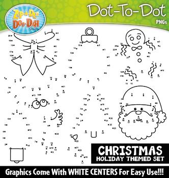 Christmas Dot-To-Dot Clipart {Zip-A-Dee-Doo-Dah Designs}