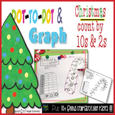 Christmas Dot-To-Dot Count By 10s and Graph-  Free Count by 2s