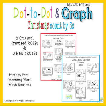 Christmas Dot-To-Dot Count By 5s and Graph
