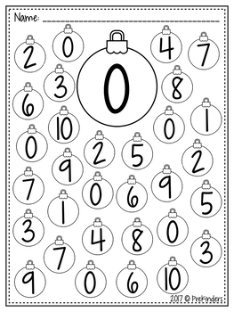 Christmas Dot the Number