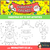 Christmas Dot to Dots with Numbers and Word Trace