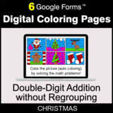 Christmas: Double-Digit Addition without Regrouping - Digital Coloring Pages