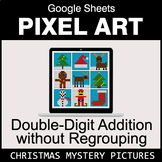 Christmas: Double-Digit Addition without Regrouping - Google Sheets Pixel Art