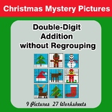 Christmas: Double-Digit Addition without Regrouping - Math Mystery Pictures