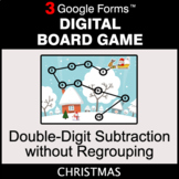 Christmas: Double-Digit Subtraction without Regrouping - D