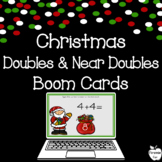 Christmas Addition Doubles & Near Doubles Boom Cards ~ Dis