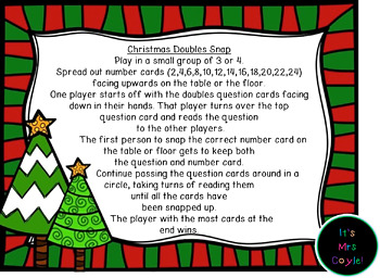 Christmas Doubles and Near Doubles Snap